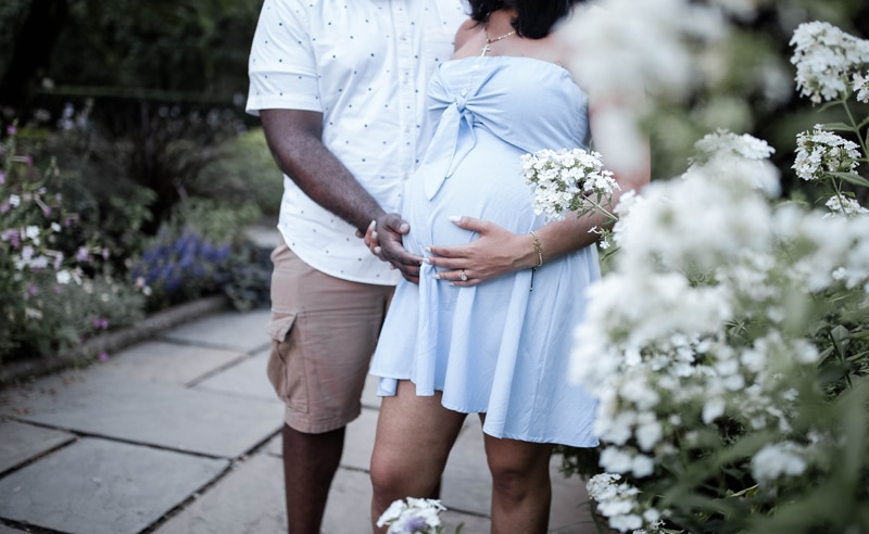 Maternity Photography, husband and wife holding her pregnant belly