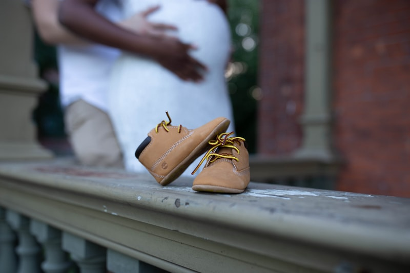 Maternity Photography, close up of little baby's shoes